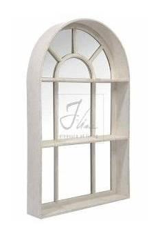 miroir pour fenetre miroir fenetre bois patin 233 blanc cr 232 me d 233 co cosy
