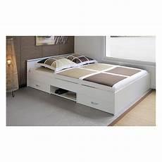 lit 140 tiroir rangement lit avec tiroir de rangement caro 140x200 cmsur notre