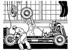 malvorlage alte autofabrik kostenlose ausmalbilder zum