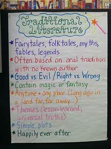 traditional literature traditional literature reading anchor charts teaching reading