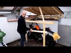 kleine garage für motorrad wir bauen eine tiny garage kleine garage f 252 r die ktm 125