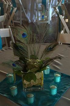 peacock wedding centerpieces this is kinda what one of