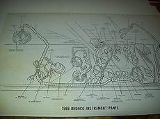 1969 Ford Bronco Wiring Wireing Diagram 11x17 Oversized