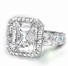 asscher cut engagement rings custom design