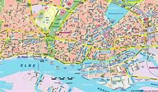 Hamburg Sehenswürdigkeiten Karte - tourist map hamburg city maps