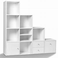 meuble casier en escalier meuble escalier pas cher en bois blanc sur 4 niveaux id
