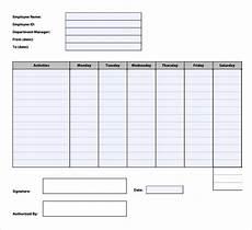 12 sle time tracking templates free premium templates