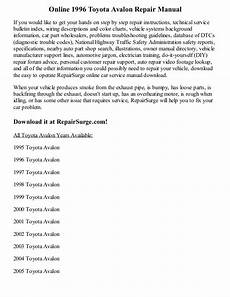 car repair manuals online free 1996 toyota avalon seat position control 1996 toyota avalon repair manual online