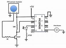 motion detection alarm using a pir sensor module with a