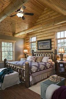 Bedroom Ideas Cabin by 56 Extraordinary Rustic Log Home Bedrooms Log Bed Frame