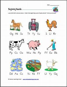 animals phonics worksheets for kindergarten 14220 beginning letter sounds farm edition language literacy and farms