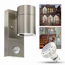 led pir outdoor wall light stainless steel movement sensor security l ip44 uk ebay