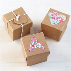 wedding favour box kraft square 5cm box with lid for