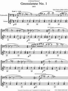 erik satie gnossienne no 1 for piano sheet music pdf