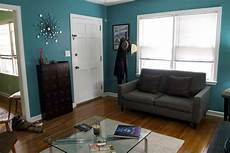 Chocolate Brown And Teal Living Room