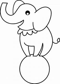 circus elephant coloring pages clipart panda free