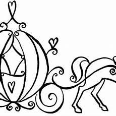 cinderella pumpkin carriage coloring pages sketch coloring