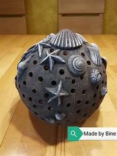 Keramik Kugel Windlicht Maritim Mit Muscheln Mit Bildern