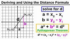 the distance formula finding the distance between two