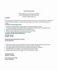 8 teaching fresher resume templates pdf doc free premium templates