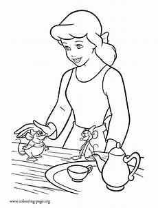 cinderella cinderella gus and jaq coloring page