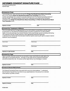 best photos of printable counseling consent forms counseling informed consent form template