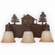 Lodge Bathroom Vanity Lights copper bf800 lodge and cabin bathroom vanity light