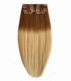 Extension A Clip Lisse Ombre Tie Dye Blond Extension