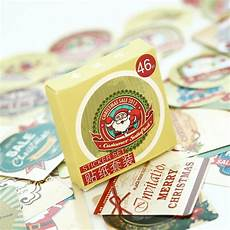 46pcs cute merry christmas paper sticker scrapbooking diary planner diy craft gift card making