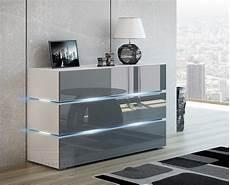 schlafzimmer kommoden kaufexpert kommode shine sideboard 90 cm grau hochglanz