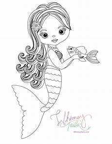 free coloring pages whimsy tails 174 mermaid and shark blankets