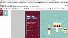birthday card template open office how to create a invitation in documents