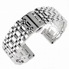 Stainless Steel Band Replacement by Luxury Silver 20 22 24mm Watchband For Stainless
