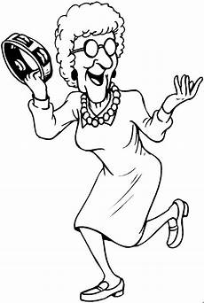 Gratis Malvorlagen Oma Und Opa Oma Tamburin Ausmalbild Malvorlage Musik