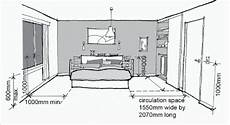a diagram shows appropriate distances and heights of features in the bedroom of an adaptable