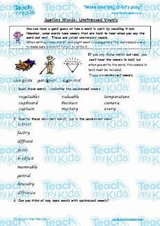 year 9 spelling worksheets uk 22593 spelling words unstressed vowels teach my