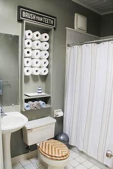 diy ideas for bathroom 30 creative ways to store toilet paper ritely