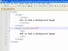how to create web pages using html how to add a background image to a web page youtube