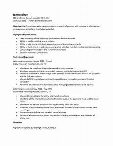 resume objective exles veterinary receptionist veterinary receptionist resume writing tips