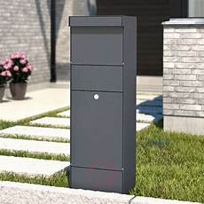 Stand Letterbox Parcel Anthracite Lights Co Uk