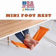 novelty portable office foot rest stand adjustable desk feet hammock ebay
