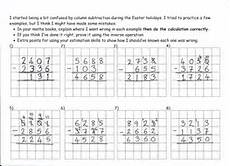 ks2 addition and subtraction deliberately made mistakes worksheet addition subtraction ks2 deliberate column subtraction mistakes teaching resources