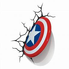 3d light fx marvel captain america shield 3d deco led wall light children rooms captain