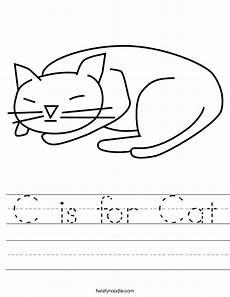 letter c for cat worksheets 24045 c is for cat worksheet twisty noodle