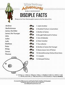 printable disciple facts worksheet for kids
