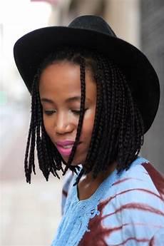 bob box braids trend black girl with long hair