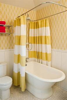 bathroom ideas with shower curtains 16 gorgeous bathrooms with the warm of yellow