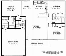 sutherlands house plans the barret home package 3 bedroom 2 bath sutherlands