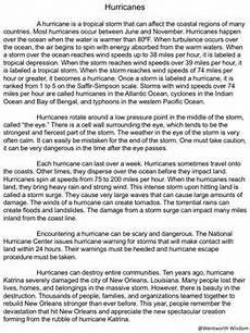hurricanes activities hurricane reading comprehension