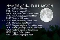 The Spirit Path Moon Names And Their Meanings